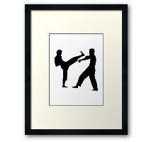 Karate fighters Framed Print