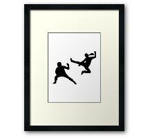 Kung fu fighter Framed Print