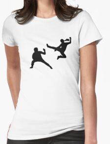 Kung fu fighter Womens T-Shirt