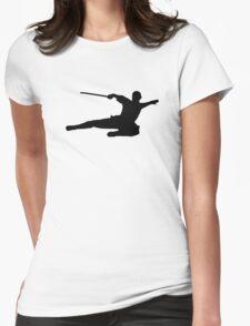 Martial arts kick fighter Womens T-Shirt
