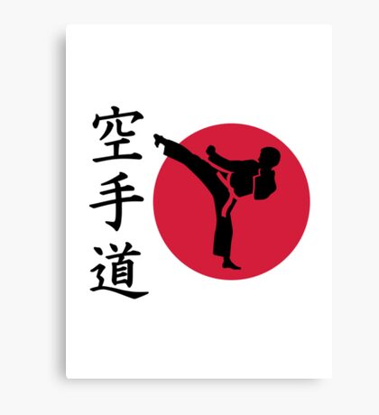 Chinese Karate fighter Canvas Print