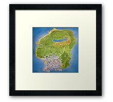 Gta 5 Map Framed Print