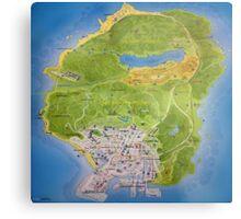 Gta 5 Map Metal Print