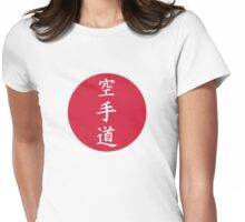 Chinese Karate signs Womens Fitted T-Shirt
