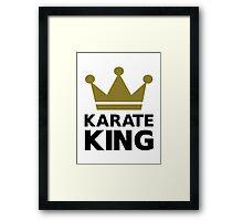 Karate king champion Framed Print