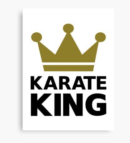 Karate king champion Canvas Print