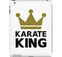 Karate king champion iPad Case/Skin
