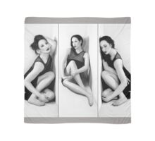 Anxiety 1 - Triptych - Self Portrait Scarf