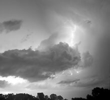 Lake Thunder Cell Lightning Burst BW by Bo Insogna