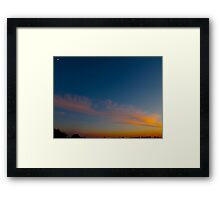 Exclamation point, moon Framed Print
