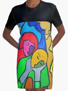 Embracing Graphic T-Shirt Dress