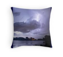 Lake Thunder Cell Lightning Burst Throw Pillow