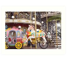 Eiffel Tower merry-go-round Art Print