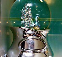 Peacock SnowGlobe by Jane Neill-Hancock