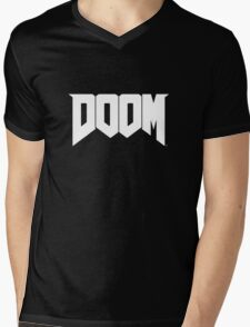 DOOM 2016 Logo Mens V-Neck T-Shirt