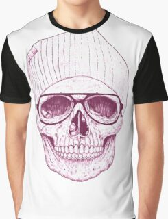 Hipster Skull Graphic T-Shirt