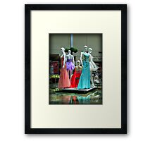 Elegance In The Middle Of The Wishing Pool Framed Print
