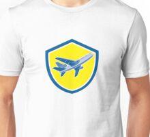 Commercial Airplane Jet Plane Airline Retro Unisex T-Shirt