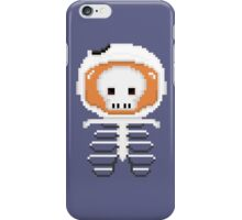 Skeleton Astronaut Pixel  iPhone Case/Skin
