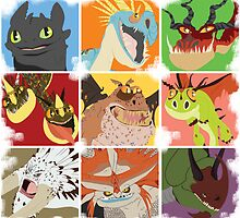 .::Noteable Dragons::. by Okida