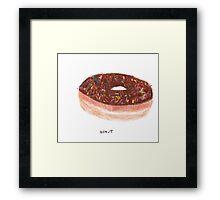 Chocolate With Rainbow Sprinkles Donut Framed Print