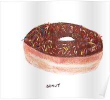 Chocolate With Rainbow Sprinkles Donut Poster