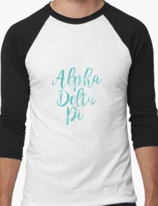 alpha delta pi adpi sorority sticker greek watercolor Men's Baseball ¾ T-Shirt