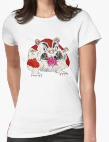 Hangry Hamster Womens Fitted T-Shirt