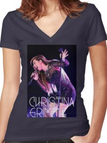 grimmie Women's Fitted V-Neck T-Shirt