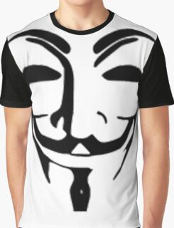 Anonymous Mask - Guy Fawkes Graphic T-Shirt