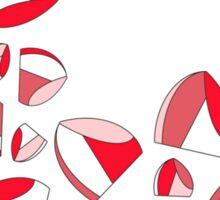 RED LIP HEART Sticker