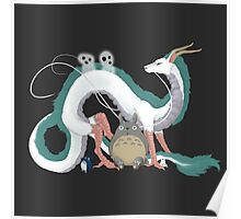 Haku, Totoro, and Tree Spirits  Poster