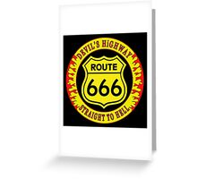 Route 666 Colour Greeting Card