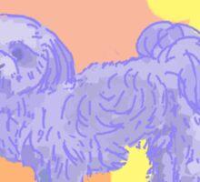 Blue Shih Tzu Sticker