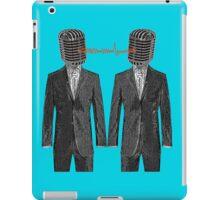 Twin Grey Scale Talking Mikes iPad Case/Skin