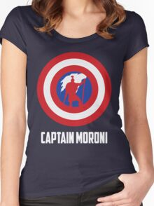 Mighty Captain Moroni T-Shirt Women's Fitted Scoop T-Shirt