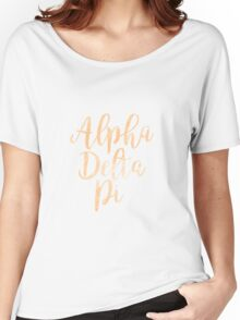 adpi alpha delta pi sorority greek watercolor  Women's Relaxed Fit T-Shirt