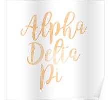adpi alpha delta pi sorority greek watercolor  Poster