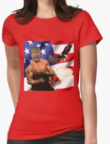 TRUMP'S 'MERICA.  Womens Fitted T-Shirt