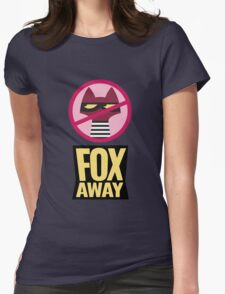 """Zootopia's """"Fox Away""""  Womens Fitted T-Shirt"""
