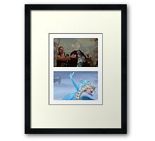 Elsa and Anna: Before and After Disney Framed Print