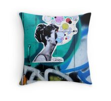 her universe pasted up  Throw Pillow