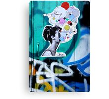 her universe pasted up  Canvas Print