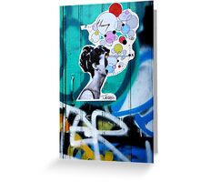 her universe pasted up  Greeting Card