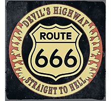 Route 666 Vintage Photographic Print
