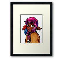 Hipster Elf Framed Print