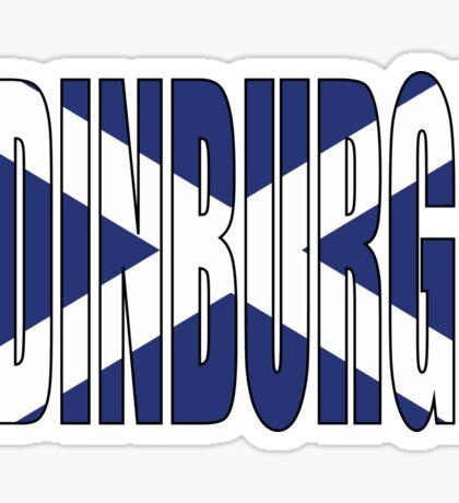 Edinburgh. Sticker