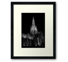 Old Church Black & White  Framed Print