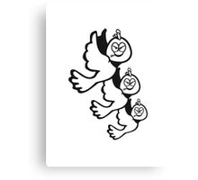 Vogel fliegen witzig verärgert formation  Canvas Print