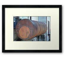 Old Industrial Tank Framed Print
